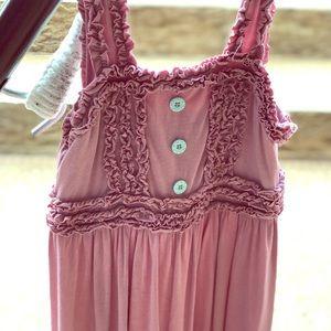 Brand New (w/o) tag MATILDA JANE pink ruffle dress